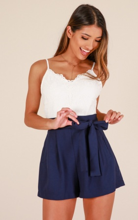 Wake Up Call playsuit in navy