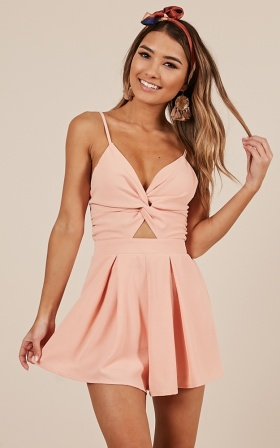 Ask About Me playsuit in peach