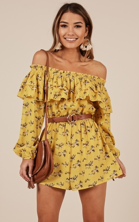 Nothing Better Playsuit in yellow floral
