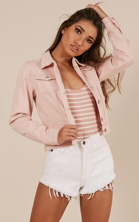 Walkabout jacket in blush denim