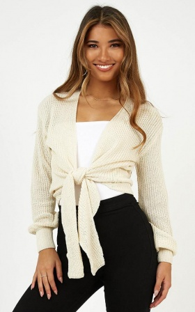 Creative Approach Knit In Beige