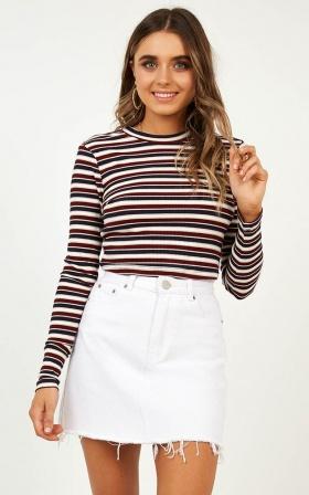 Love Someone Top In Wine Stripe