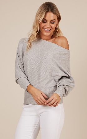 Over Everything Knit Sweater In Grey