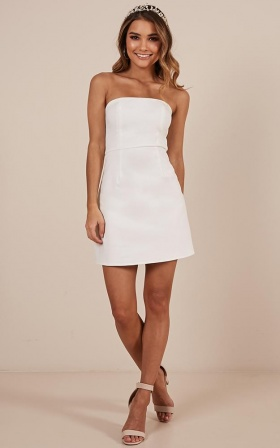 Cover Star Dress In White