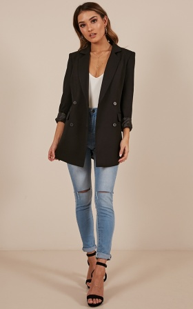 All Grown Up Blazer In Black
