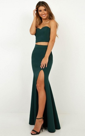 Sweet Delights Two Piece Set In Emerald