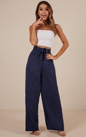 Long Walk Home Pants In Navy