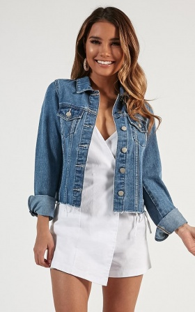 Alone Star Jacket In Mid Wash Denim