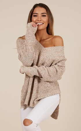 With Conviction knit in mocha marle