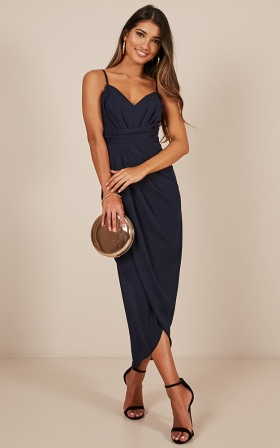 Wake Me Up dress in Navy