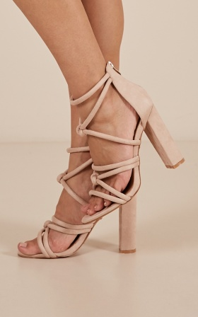 Billini - Lavinia Heels In Blush Micro