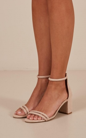 Billini - Fiji Heels In Blush Micro