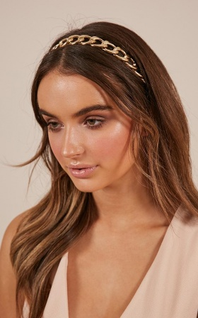 Rise Above It headband in gold