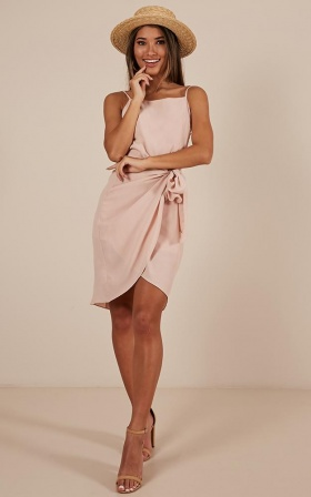 What You Waiting For Dress In Blush