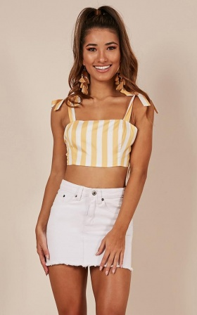 Love Affair Top In Mango Stripe