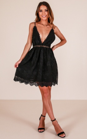 A Night To Remember dress in black lace