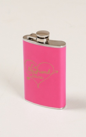 Ex Boyfriend Tears hip flask in pink