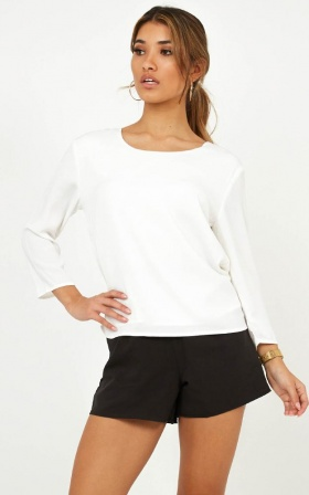 Boardroom Top in White