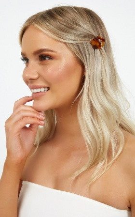 Forget Me Not Hair Clip 3 Pack In Tortoise Shell