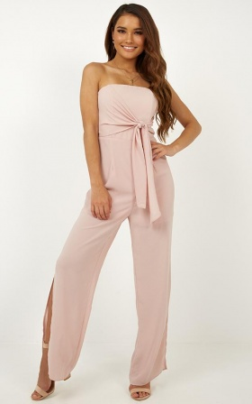 Call It Home Jumpsuit In Blush ... 5c6b72309