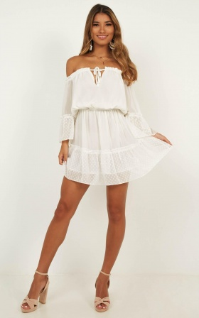 Dream Queen Dress In White