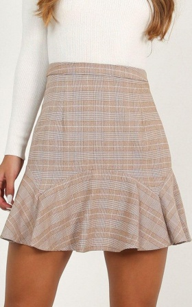 Want To Be Me Skirt In Rust Print