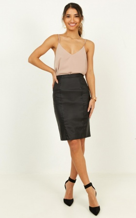 Missing Merit Skirt In Black