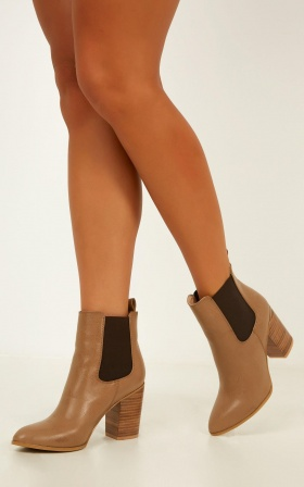 Billini - Jaida Boots In Mocha Burnish
