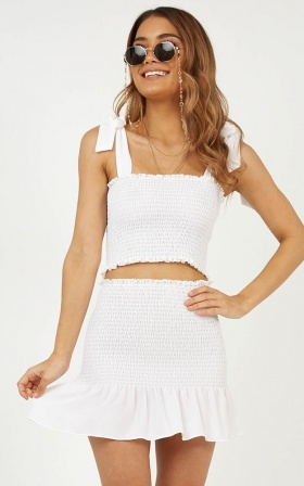 Bright Spot Two Piece Set In White