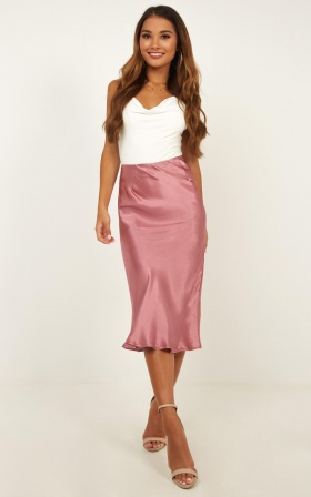Creating Art Skirt In Dusty Rose Satin