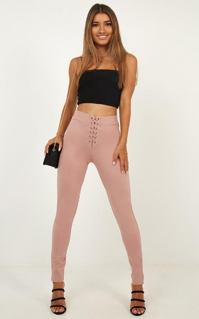 Fake News Jeggings In Blush