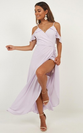 Flowing Free Dress In Lilac