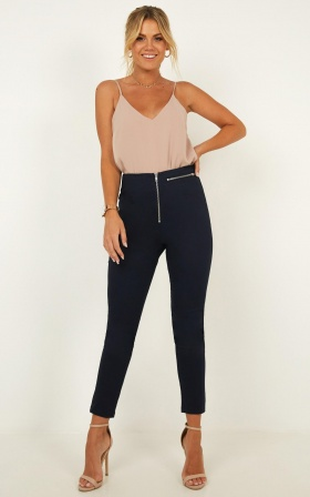 Girl Around Town Pants In Navy