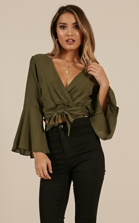 Im Not Perfect Top In Khaki