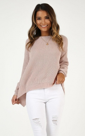 Into The Mystic Knit Jumper In Blush