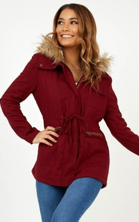 London Parka In Wine