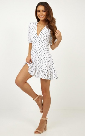 Maribelle dress in white print