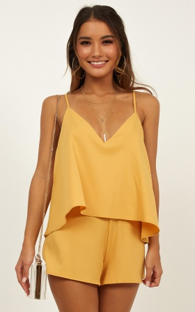 Midway Playsuit In Mustard