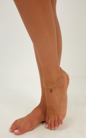 Never Again Anklet In Gold