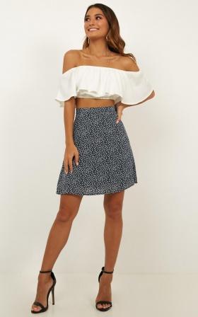 Preferable Mini Skirt In Navy Floral