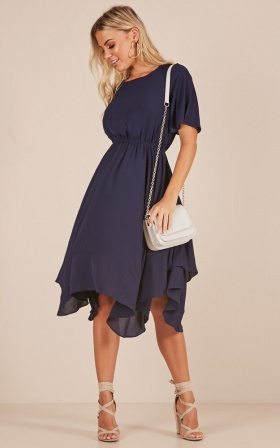 Story Of My Life dress in navy