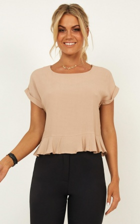 Purposeful Top In Nude