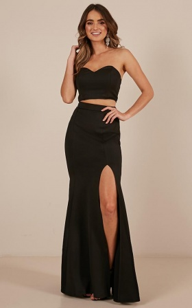 Sweet Delights Two Piece Set in black