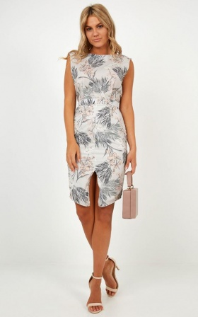 Strategic Fit Dress in Mint Floral