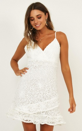 Summer Blitz Dress In White