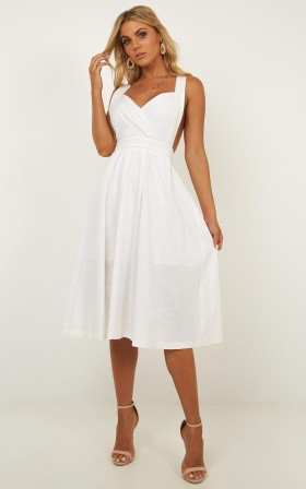Zone Out Dress In White