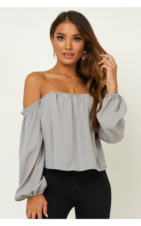 After Sundown Top In Grey