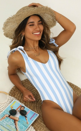 Alexia One Piece In Blue Stripe