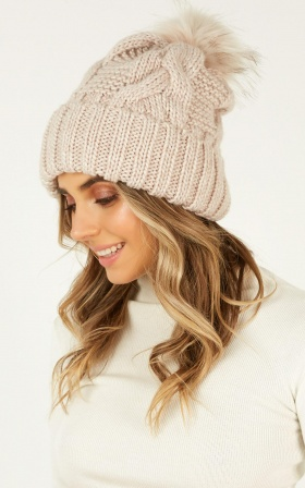 As Loving Should Beanie In Blush
