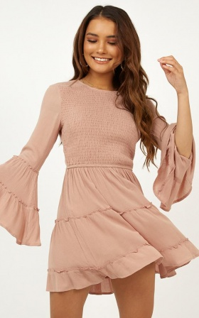 Ask Me Later Dress In Mocha